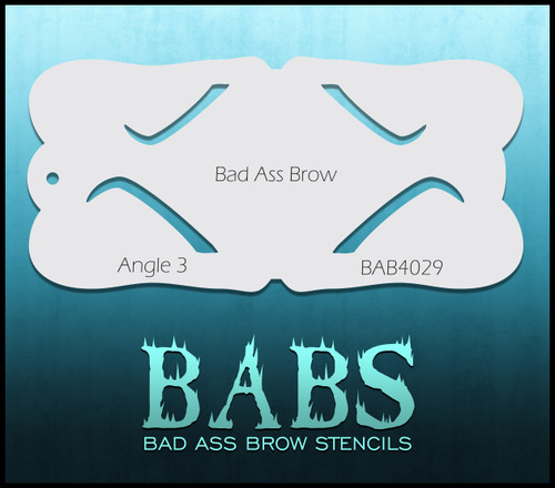 BB-BAB 4029 Angle 3 eyebrow stencil