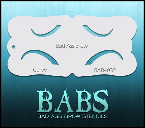 BB-BAB 4032 Curve eyebrow stencil