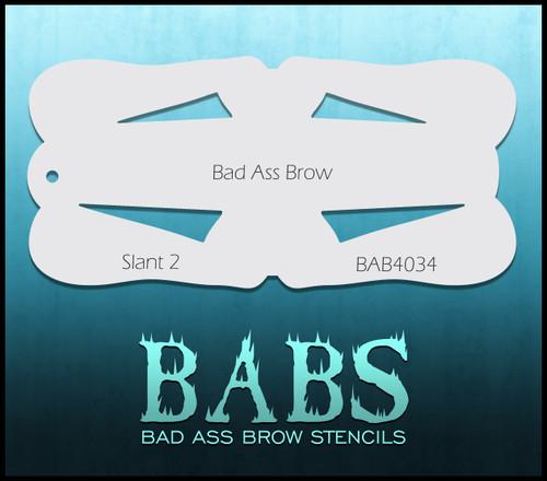 BB-BAB 4034 Slant 2 eyebrow stencil