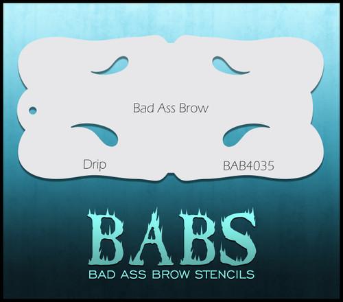 BB-BAB 4035 Drip eyebrow stencil