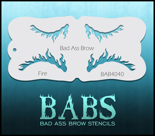 BB-BAB 4040 Fire eyebrow stencil