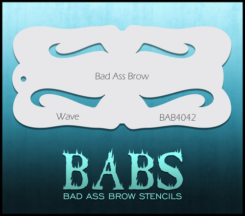 BB-BAB 4042 Wave eyebrow stencil