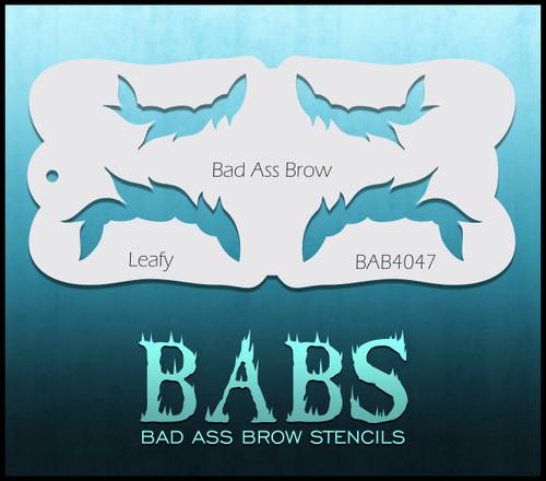 BB-BAB 4047 Leafy eyebrow stencil