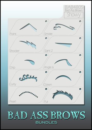 BB-BABB-4805 showy eyebrow stencils set
