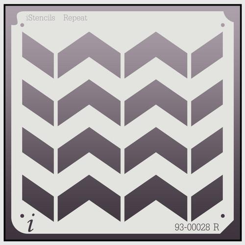 93-00028 Chevron Repeat Pattern Stencil