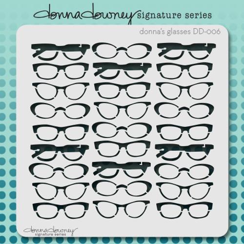 DD-006 Donna's glasses stencil