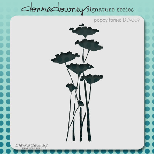 DD-007 poppy forest stencil