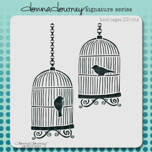 DD-014 bird cages stencil