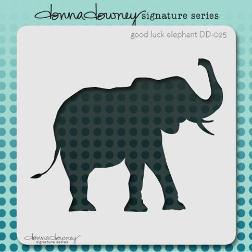DD-025 good luck elephant stencil