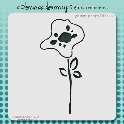 DD-027 grunge poppy stencil
