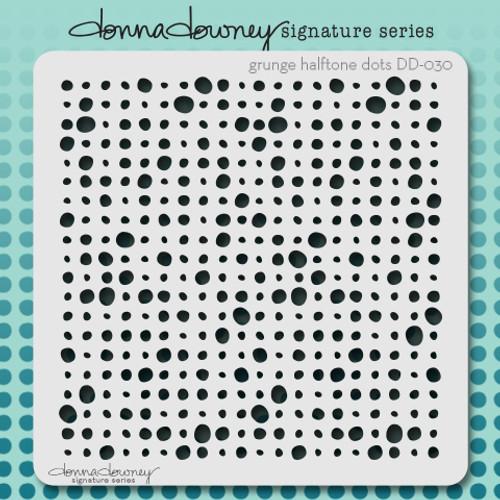 DD-030 grunge halftone dots stencil