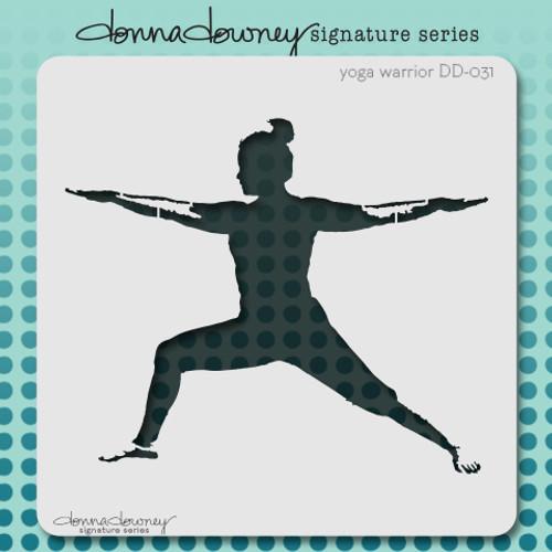 DD-031 yoga warrior stencil