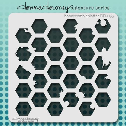 DD-033 honeycomb splatter stencil