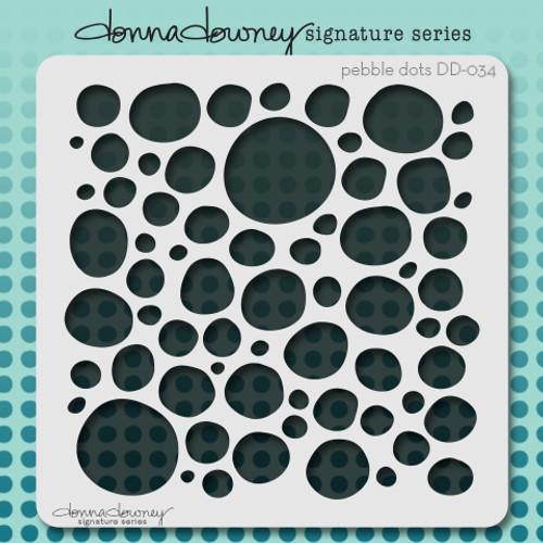 DD-034 pebble dots stencil