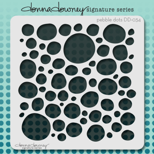 DD-034 pebble dots stencil