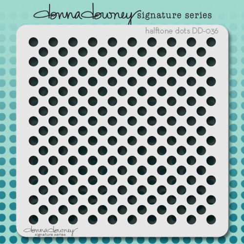 DD-036 halftone dots stencil
