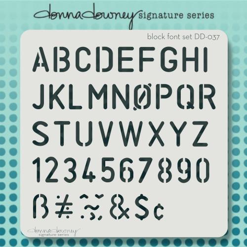 DD-037 block font set stencil