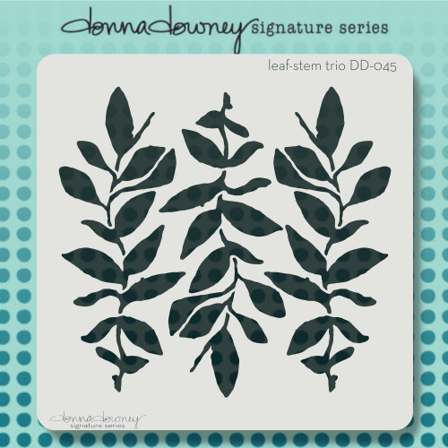 DD-045 leaf-stem trio stencil