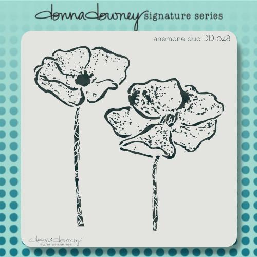 DD-048 anemone duo stencil