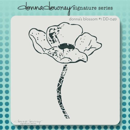 DD-049 donna's blossom #1 stencil