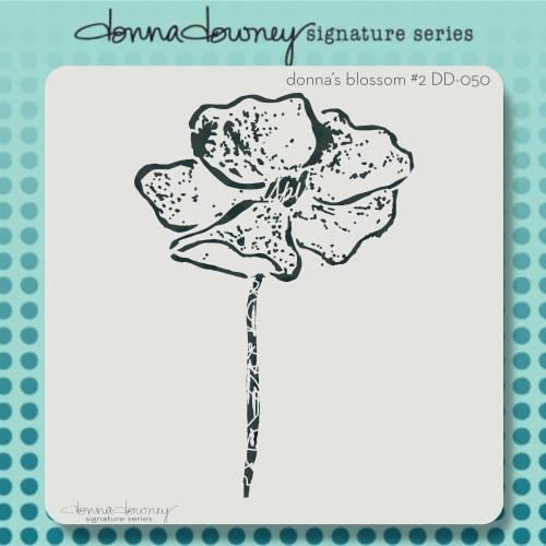 DD-050 donna's blossom #2 stencil
