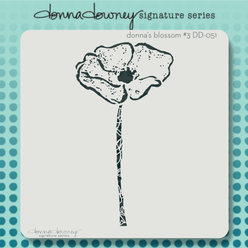 DD-051 donna's blossom #3 stencil