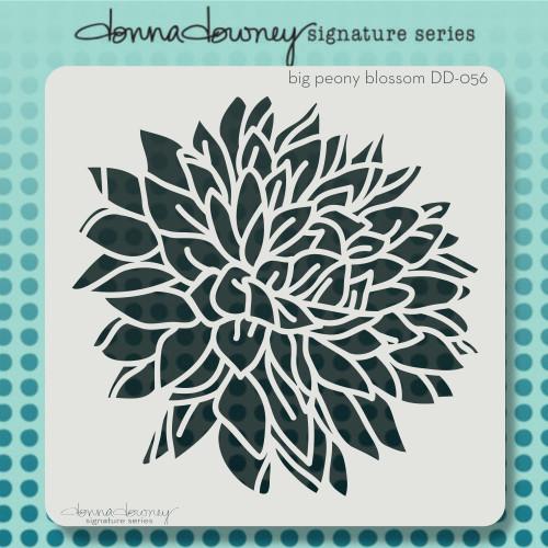 DD-056 big peony blossom stencil