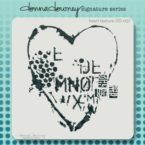 DD-057 heart texture stencil