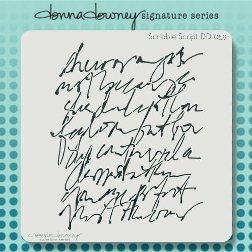 DD-059 scribble script stencil