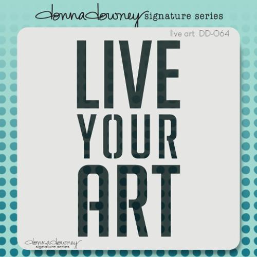 DD-064 live art stencil