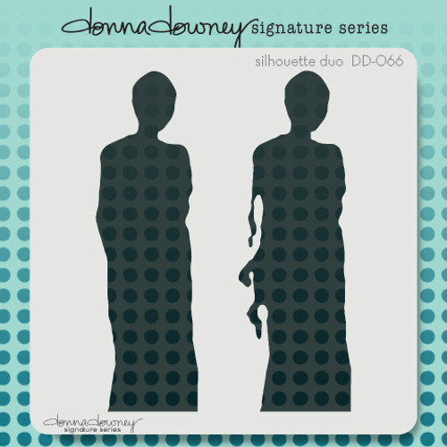 DD-066 silhouette duo stencil 1