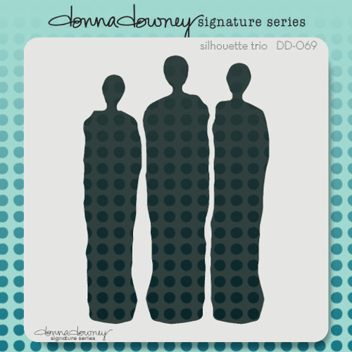 DD-069 silhouette trio stencil 1
