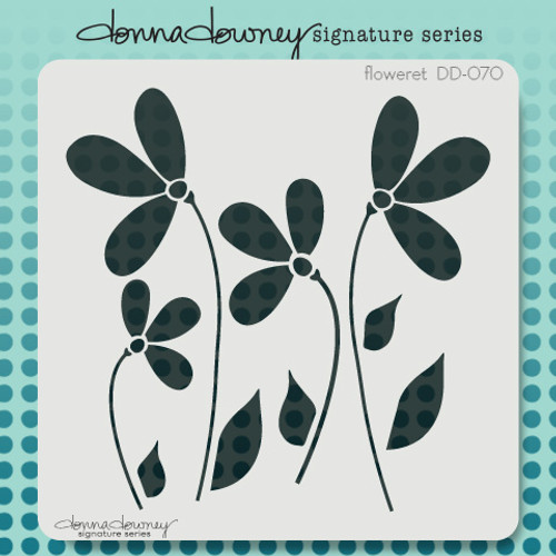 DD-070 floweret stencil