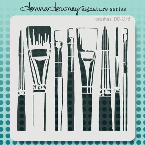 DD-073 brushes stencil