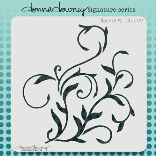 DD-079 flourish #2 stencil