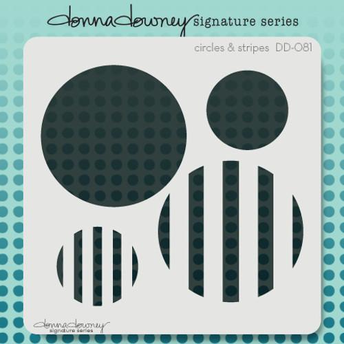 DD-081 circles & stripes stencil 1