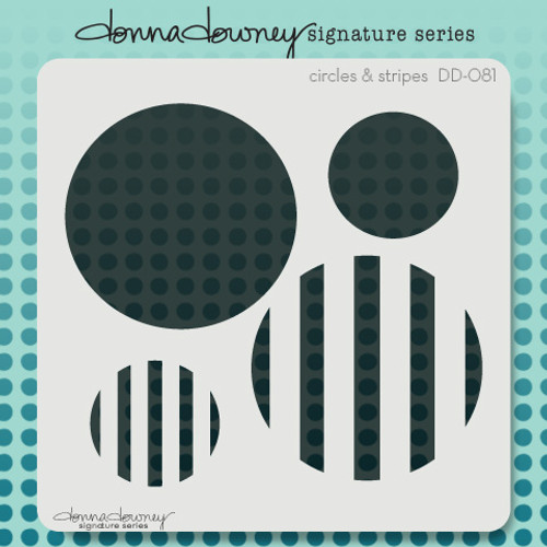DD-081 circles & stripes stencil 1