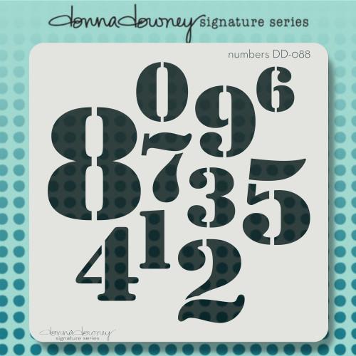 DD-088 Numbers stencil