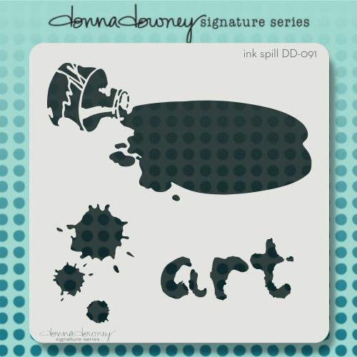 DD-091 Ink Spill Stencil