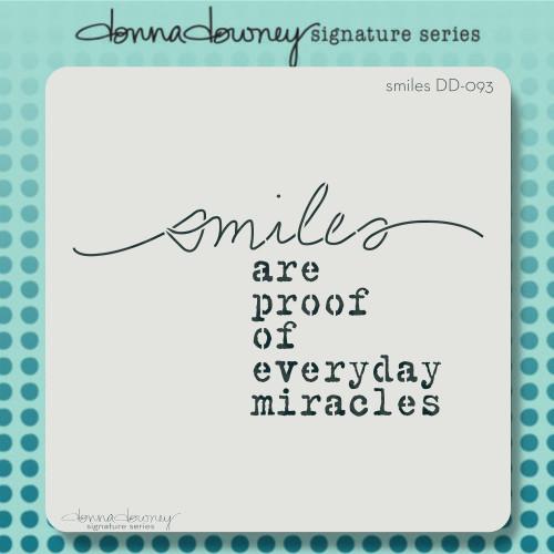DD-093 Smiles Stencil