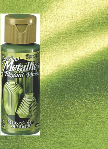 Festive Green - Dazzling Metallic Acrylic Paint (2oz)