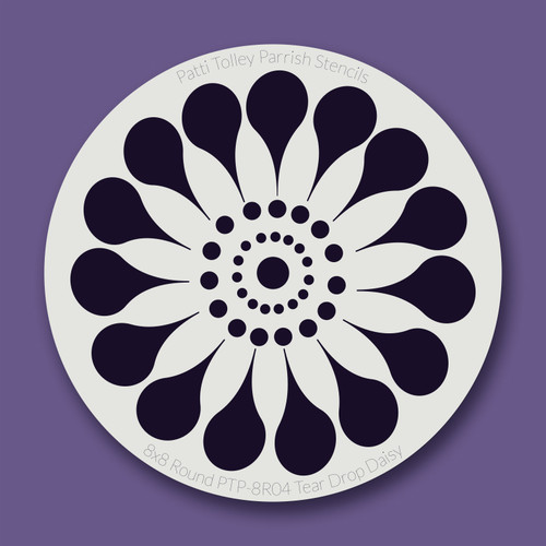 PTP-R04 tear drops daisy stencil