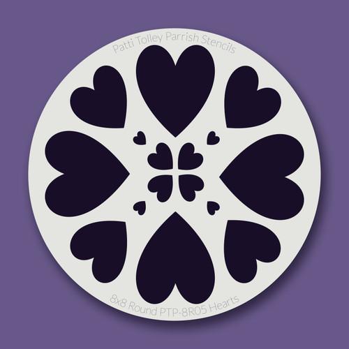 PTP-R05 hearts stencil