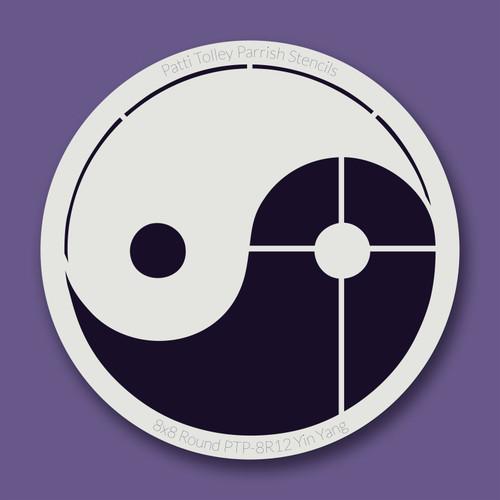 PTP-R12 yin yang stencil