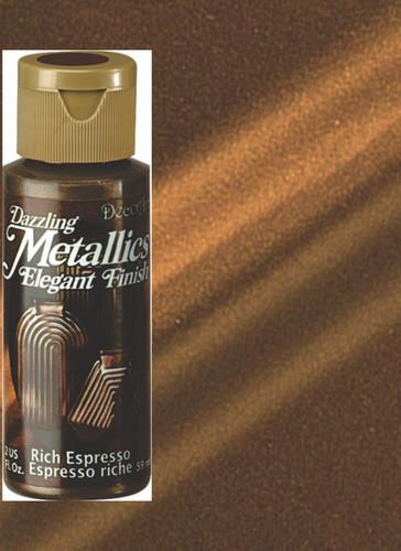 Rich Espresso - Dazzling Metallic Acrylic Paint (2oz)