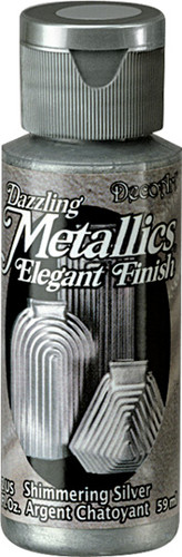 Shimmering Silver - Dazzling Metallic Acrylic Paint (2oz)