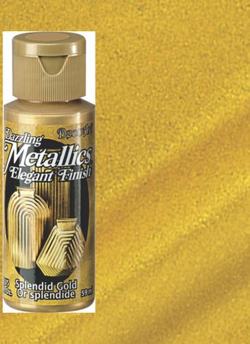 Splendid Gold - Dazzling Metallic Acrylic Paint (2oz)