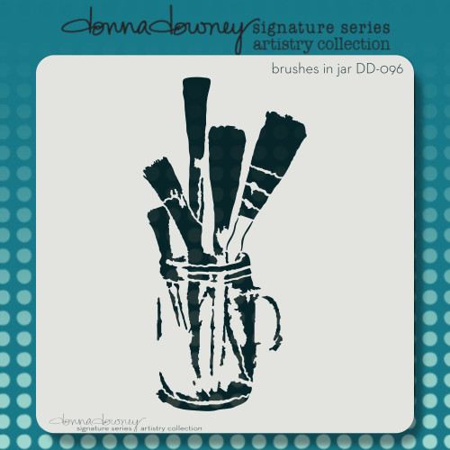 DD-096 brushes in jar stencil