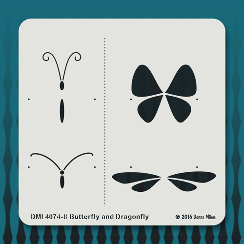 4074 Butterfly and Dragonfly stencil