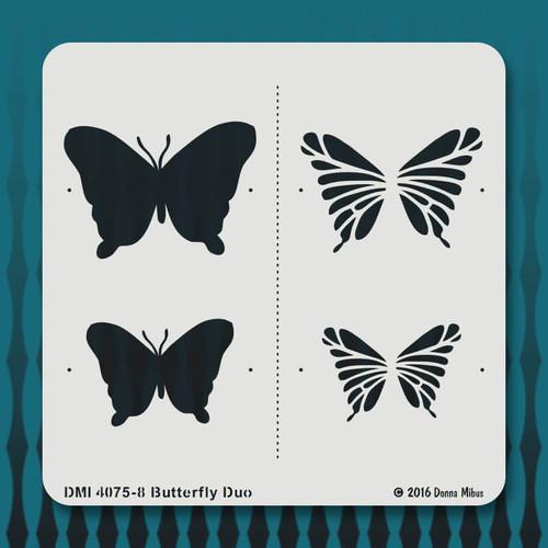 4075-8 Butterfly Duo stencil